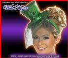 FANCY DRESS HAT # FEVER MINI TOP HAT GREEN GLITTER